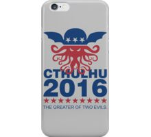 Vote Cthulhu 2016 iPhone Case/Skin