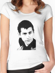 alex turner black and white Women's Fitted Scoop T-Shirt