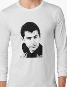 alex turner black and white Long Sleeve T-Shirt