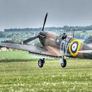 Mk1 Supermarine Spitfire Landing by Nigel Bangert