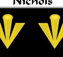 Nichols Coat of Arms/Family Crest Sticker