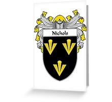 Nichols Coat of Arms/Family Crest Greeting Card