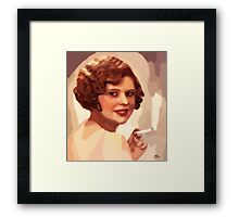 Woman with a cigarette Framed Print