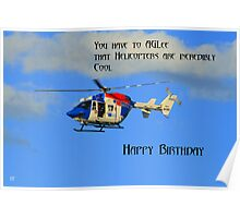 Helicopter Birthday Poster