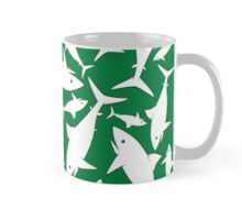 Shark Pattern Green Mug