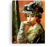 Lady with a hat  Canvas Print