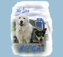We Love the RSPCA. 'T' Shirt. All profits to the RSPCA. Unisex T-Shirt