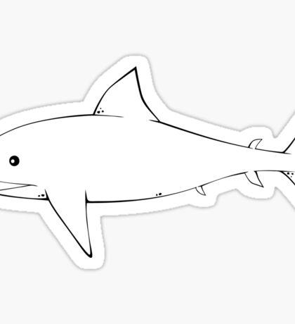 Shark Pattern Grey Gray Sticker