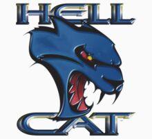 Hellcat Head - B5 Blue Baby Tee