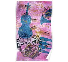 Pink Serenade Faux Chine Colle 2 Poster