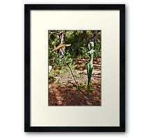 Woman and Parasol Framed Print