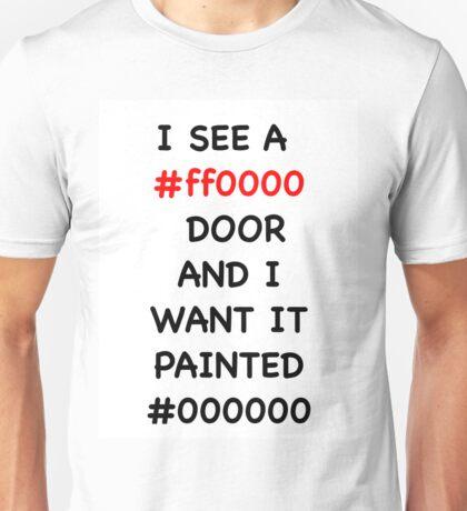 Paint it Black Hex Codes Unisex T-Shirt