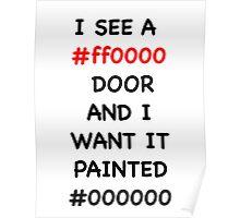 Paint it Black Hex Codes Poster