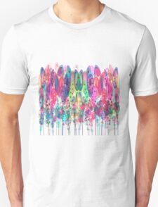 Whimsical Watercolor Flowers Blue Unisex T-Shirt