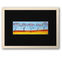 Little Trees Framed Print