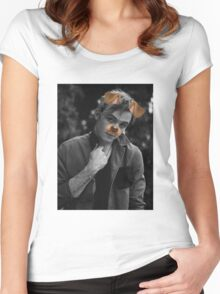 Ryland Lynch - Snapchat Puppy Filter Women's Fitted Scoop T-Shirt