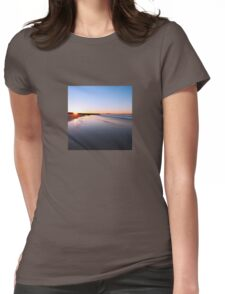 Where the sun hits the sky Womens Fitted T-Shirt