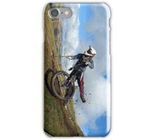 Mountain bike crash iPhone Case/Skin