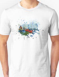 Red Boats Claude Monet inspiration T-Shirt