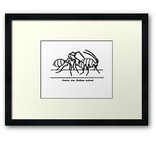 Ant & Aphid Framed Print