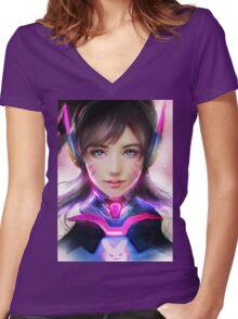D.va Women's Fitted V-Neck T-Shirt
