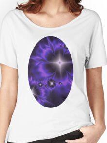 Fleur de Nuit Fractal Women's Relaxed Fit T-Shirt