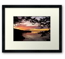 Sunset over Deception Pass, Washington state Framed Print