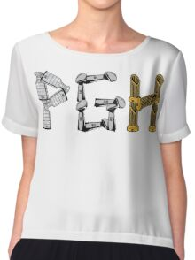 PGH - City of Champions Graphic Chiffon Top