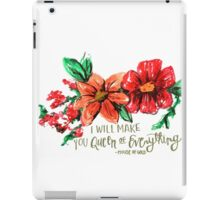 queen of everything flowers iPad Case/Skin