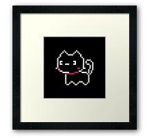 Chubby Pixel Cat Framed Print