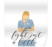 Waitress - Fight just a little Poster