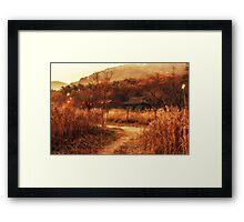 Fall colors of Korean temple Framed Print