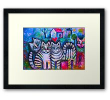 Pussicats Framed Print