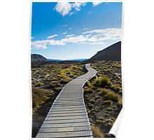 Boardwalk in Tongariro National Park (1) Poster