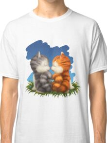 For LOVERS. For Beloved. Two kittens in love Classic T-Shirt