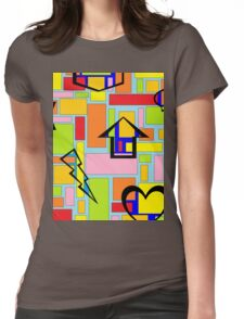 Color and Shape Madness Womens Fitted T-Shirt