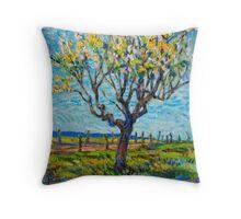 Apricot Tree Throw Pillow