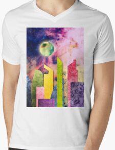 Grunge Spring Rusty Pretty City Geometric Urban Landscape Mens V-Neck T-Shirt