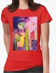 Grunge Spring Rusty Pretty City Geometric Urban Landscape Womens Fitted T-Shirt