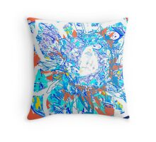 Abstract and Flower Portrait  Throw Pillow