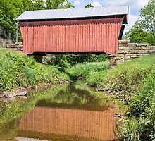 Center Point Covered Bridge by Kenneth Keifer