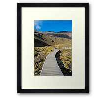Boardwalk in Tongariro National Park (2) Framed Print