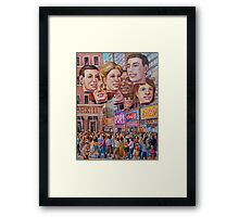 Big Heads Framed Print