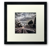 The Grey City Framed Print