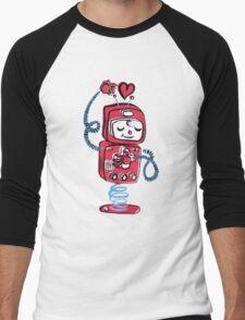 Red Robot Men's Baseball ¾ T-Shirt