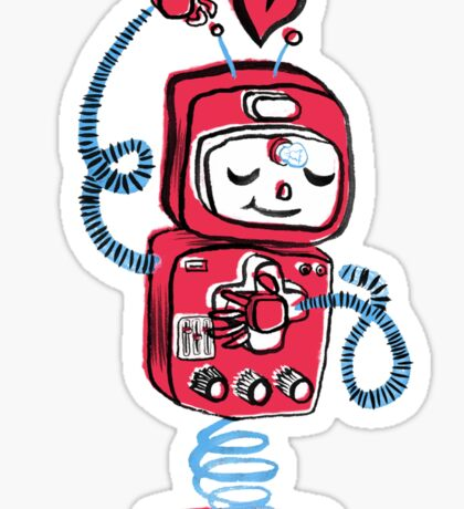 Red Robot Sticker