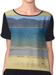 Dunk Island seen from South Mission Beach Chiffon Top