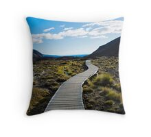 Boardwalk in Tongariro National Park (1) Throw Pillow