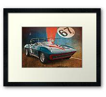 Blue Corvette Stingray Framed Print