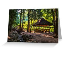 Resting under the green tea fields Greeting Card